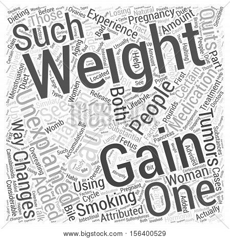 unexplained weight gain word cloud concept background