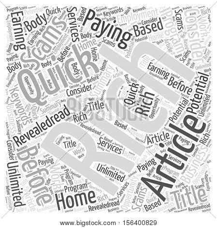 Unlimited earning potential word cloud concept text background