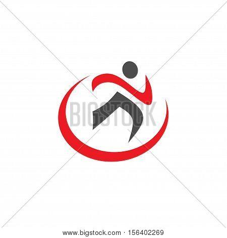 running Sport icon. Fitness sign. Jogging people symbol. Vector running  logo template