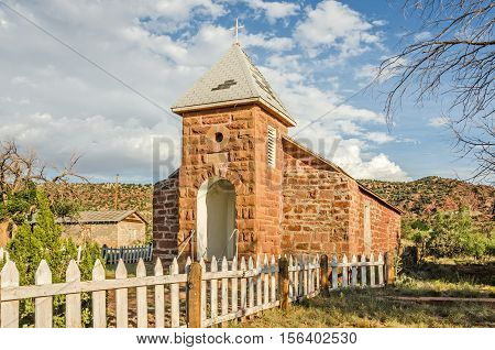 Built in 1915 this church was once part of a community on Route 66