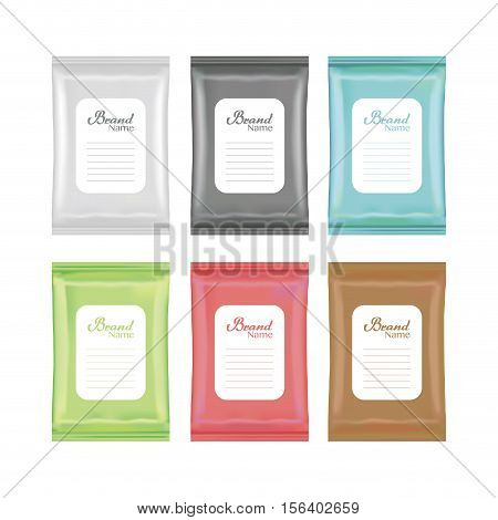 top view of colorful polystyrene and plastic packaging mockup