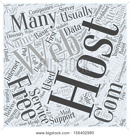 Using Free Hosting Services word cloud concept