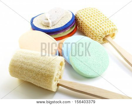 bath puff shower and loofah spa kit