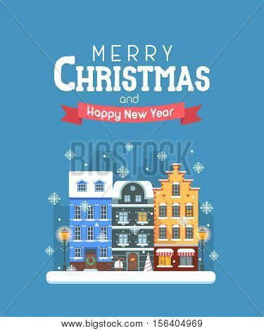 Vector christmas vector photo free trial bigstock vector christmas wishing card with traditional celebrating text merry christmas and happy new year greetings m4hsunfo