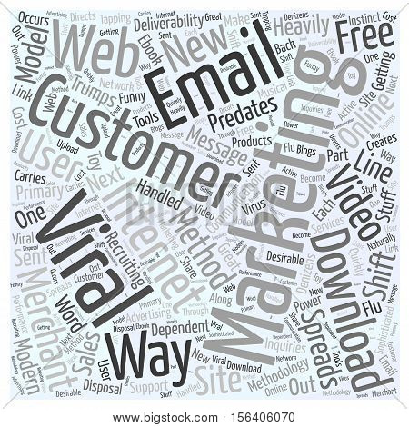 Viral Marketing Trumps Email Deliverability word cloud concept