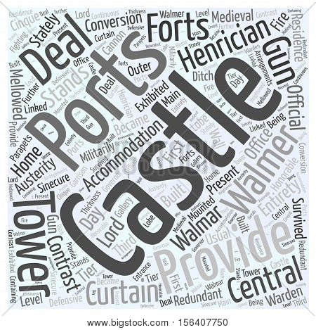 Walmar Castle word cloud concept text background