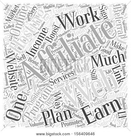 web hosting affiliate programs word cloud concept