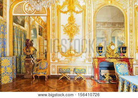 Versailles, France - July 02, 2016 : Council Study( Cabinet Du Conseil)- Here King With The Minister
