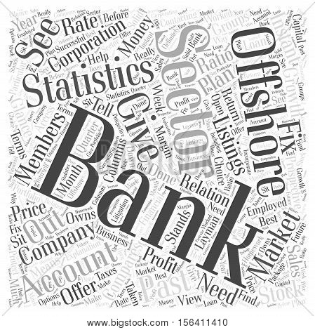 What About Offshore Banking And Sector Statistics word  text background cloud concept