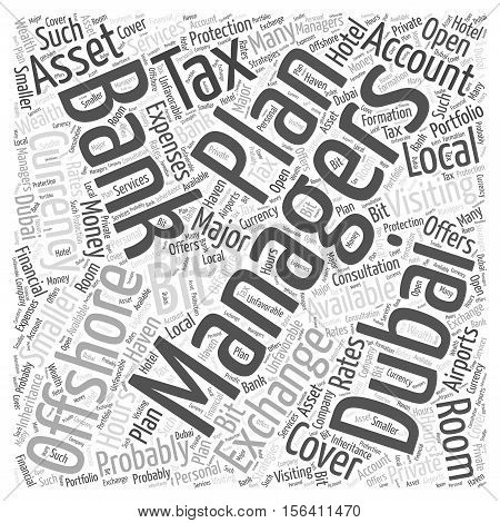 What About Offshore Banking In Dubai word cloud concept text background