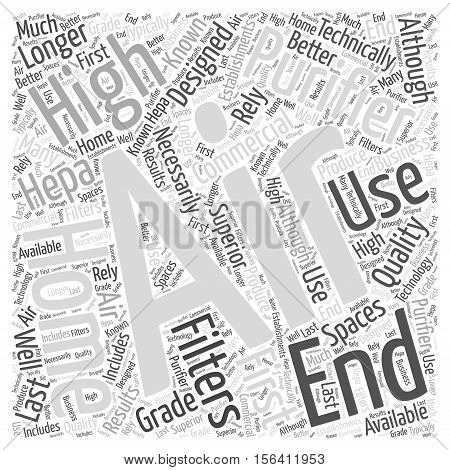 What are High End Home Air Purifiers word cloud concept text background poster