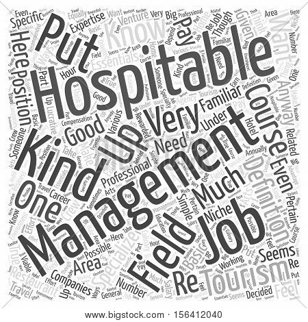 What Are Hospitality Management Jobs word cloud concept text background