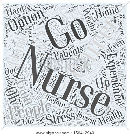 What are Your Options for Careers with Nursing Experience  text background word cloud concept