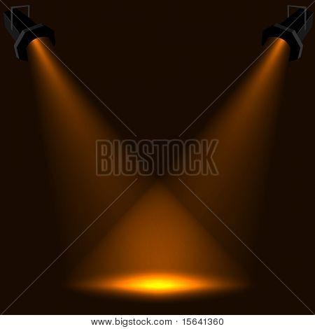 Abstrakte Bühne ins Rampenlicht Vektor Hintergrund. EPS10-Datei.