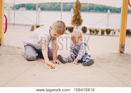 Two boys playing games good time using communication