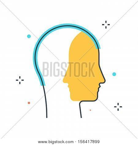 Color Line, Persona Illustration Concept Illustration, Icon