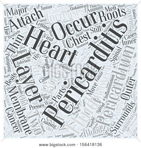 What is Pericarditis word cloud concept text background