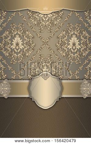 Decorative vintage background with borderframe and elegant patterns.
