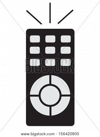 remote icon on white background. remote icon.