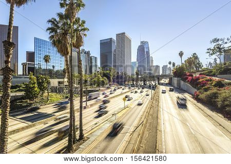 Downtown City scape Los Angeles California USA
