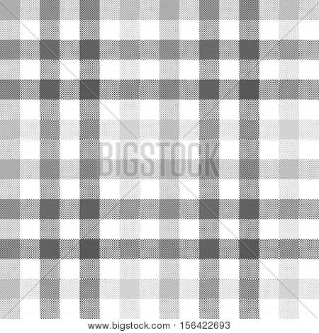 Gray check seamless fabric texture. Vector illustration.