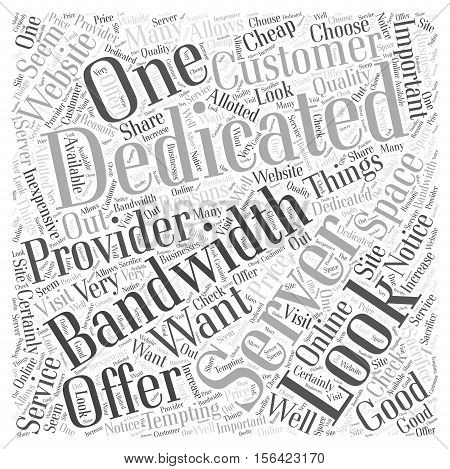 What to Look For In A Dedicated Server word cloud concept