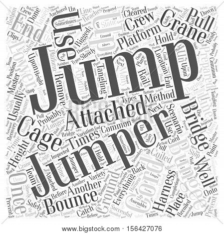 Where To Bungee Jump word cloud concept text background