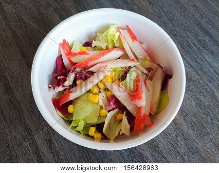 Photo of Japanese salad with fish: healthy food