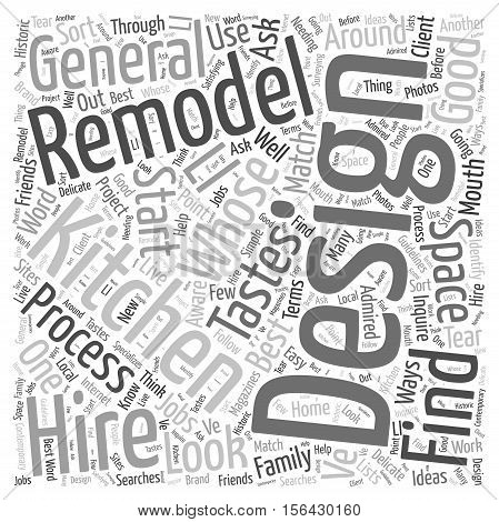 Who to Hire for Your Kitchen Remodel word cloud concepttext background