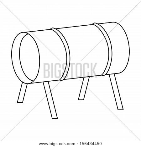 Playground tunnel icon in outline style isolated on white background. Play garden symbol vector illustration.