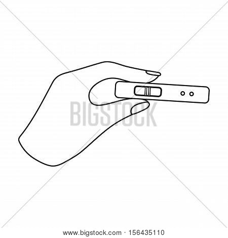 Pregnancy test icon in outline style isolated on white background. Pregnancy symbol vector illustration.