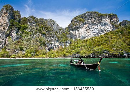 Snokling Point at PhiPhi Island Phuket Andaman Thailand