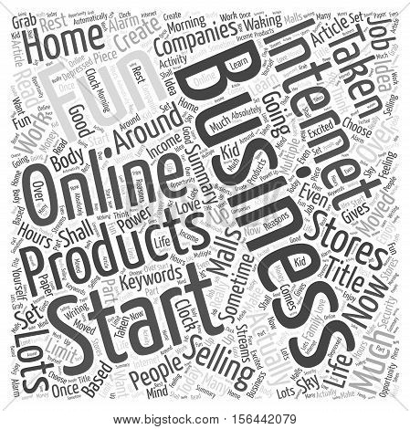 Why you should start an internet business word cloud concept