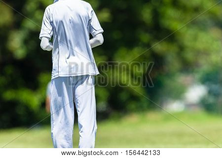 Cricket game teenagers schools game fielder abstract action photo.