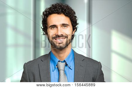 Handsome male manager portrait