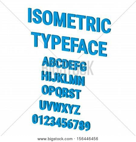 Three-Dimensional stock vector typography. Contains all caps letters and numbers