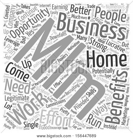 Work From Home MLM Business Opportunity word cloud concept