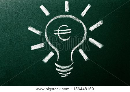 Light Bulb As Concept Of Solution For Money Crisis
