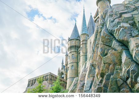 OSAKA, JAPAN - December 1, 2015: Universal Studios Japan (USJ). According to 2014 Theme Index Global Attraction Attendance Report, USJ is ranked fifth among the top 25 amusement parks worldwide.