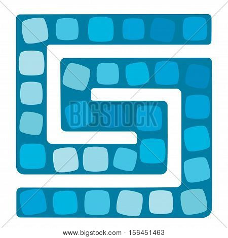 Vector illustration of board game for children