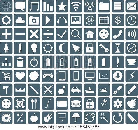 a group of a general icon set