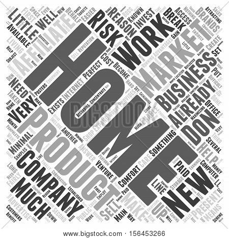How Affiliate Marketing Can Enable You To Work From Home word cloud concept
