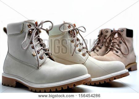 Male And Female Leather Boots Authentic,