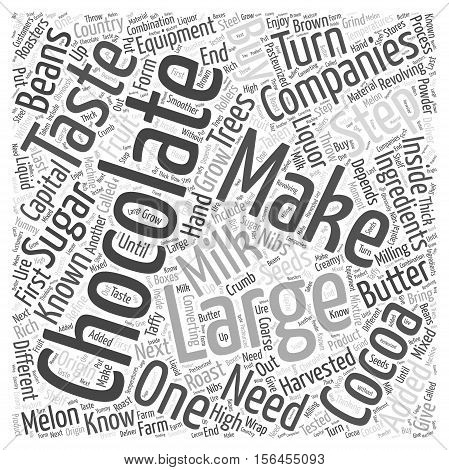 How Do Large Companies Make Chocolate word cloud concept