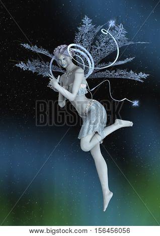 3D Rendering Winter Fairy