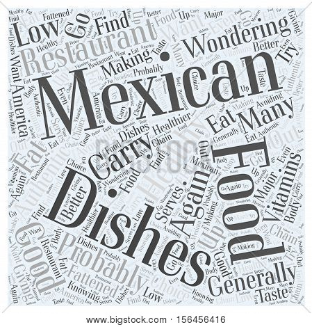 How Healthy is Mexican Food word cloud concept