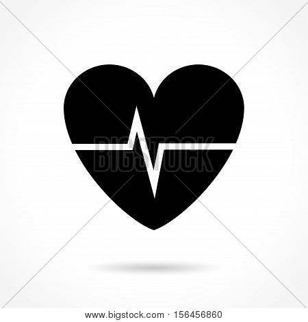 Illustration of cardiac frequency icon on white background