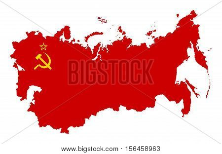 The territory of the Soviet Union. Isolated illustration on a white background.