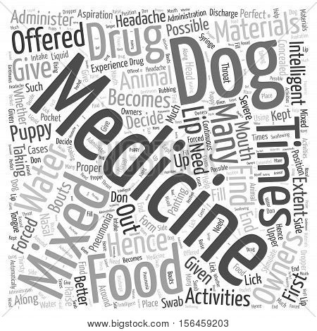 How to administer medicine word cloud concept