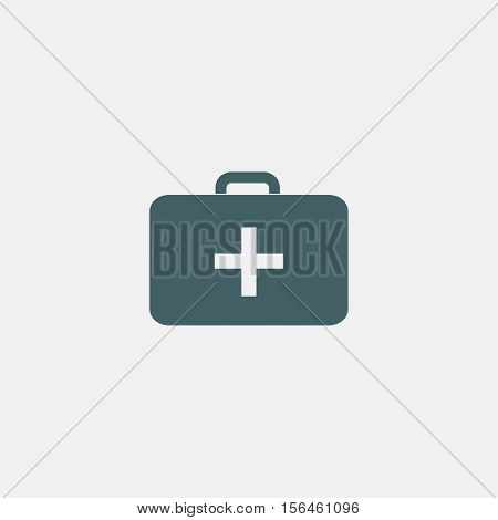 medkit icon vector isolated on white background